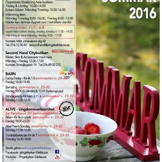 Sommar Program 2016 info